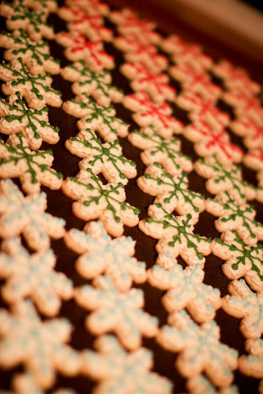 Christmas means cookies in our house! All kinds of Christmas inspired cookies can be found at our holiday table. From Santa hats to snowmen and snowflakes, these Christmas Cookie ideas will keep your kids busy all winter long!    JennyCookies.com #christmas #christmascookies #cookiedecorating