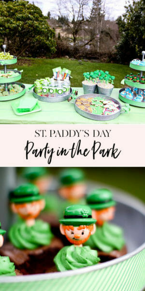 St. Patrick's Day Party in the Park | st. Patrick's day desserts | st. Patrick's day party ideas | st. Patrick's day party foods || JennyCookies.com #stpatricks #stpatricksday #partyideas #jennycookies