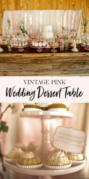Vintage Pink & Shabby Chic Dessert Table | wedding decor | wedding dessert table | shabby chic wedding || Jenny Cookies #shabbychic #weddingdesserts #desserttable #jennycookies