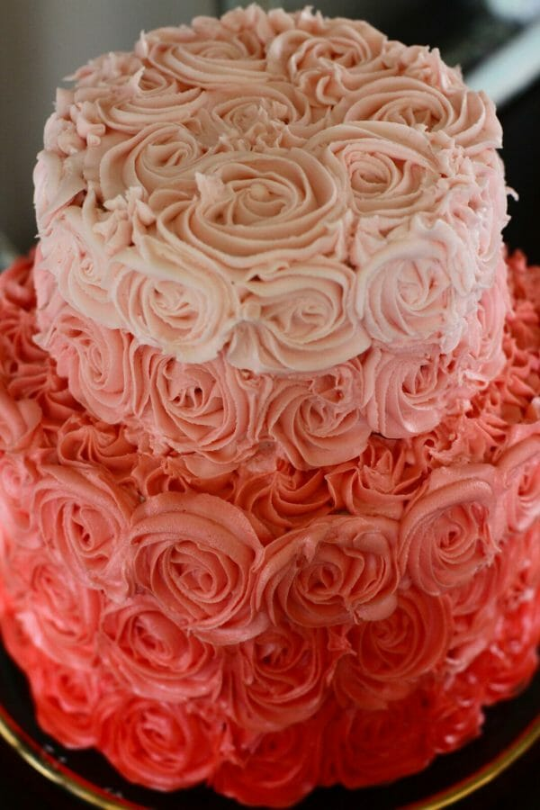 Obsessed with Ombre' | ombre rose cake | diy cake recipes | how to decorate an ombre cake | unique cake decorating tips | cake decor ideas || Jenny Cookies #ombrecake #cakedecorating #rosecake