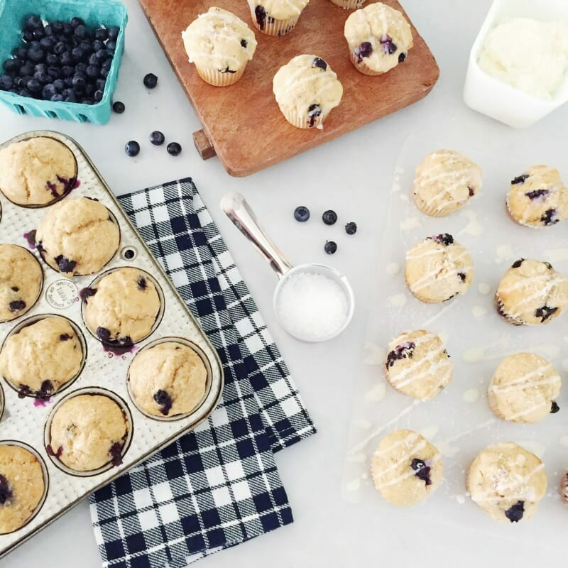 Healthy Blueberry Muffin Recipe | homemade blueberry muffin recipe . | blueberry muffin recipe healthy | easy blueberry muffin recipes | how to make blueberry muffins | homemade muffin recipes || JennyCookies.com