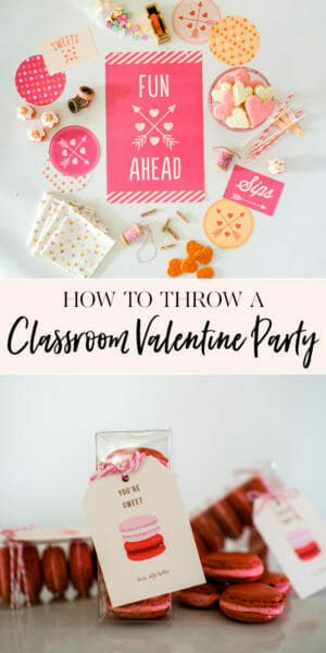 How to Throw a Classroom Valentine's Day Party   diy class Valentines   Valentine's Day parties for kids   kid friendly Valentine's Day party   handmade Valentines   Valentine's Day party ideas    JennyCookies.com #valentinesdayparty #diyvalentines #valentinesday #jennycookies