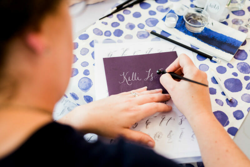 The Art of Lettering : How to Host a Calligraphy Brunch   party ideas for women   ladies night party ideas   party ideas for ladies night   women's party ideas   hand lettering tips and tricks   calligraphy tips and tricks   unique party ideas    JennyCookies.com