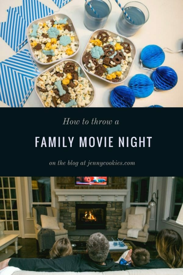 How to Throw a Family Movie Night | family friendly activities | fun family activities | how to host a family movie night | family movie night ideas | family fun ideas || JennyCookies.com #familyfun