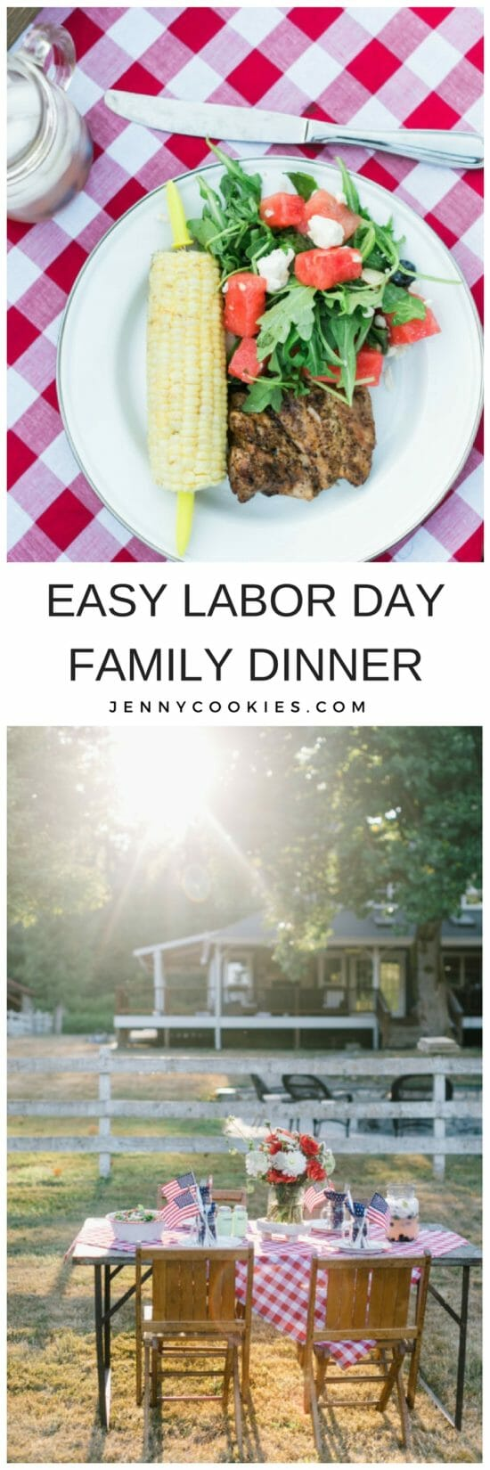 Farewell to the Farmhouse | outdoor farmhouse dinner | Labor Day dinner ideas | Labor Day tables cape | outdoor party decor | hosting an outdoor dinner party | outdoor dinner party tips || JennyCookies.com