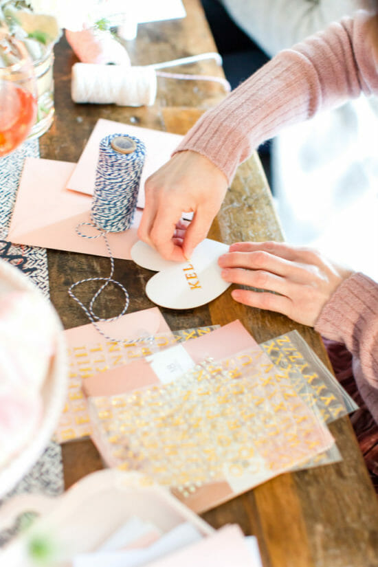 How to Host a Valentine Making Party | Valentine ladies lunch ideas | Valentine inspired lunch | hosting a ladies lunch | Valentine party for adults || JennyCookies.com #valentineparty #valentinelunch #ladieslunch