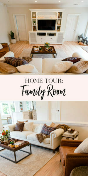 Home Tour: The Family Room | decorating the family room | family room decor || JennyCookies.com #hometour #familyroom #homedecor #jennycookies