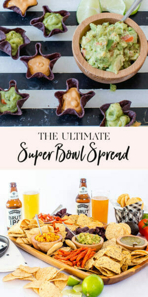 The Ultimate Super Bowl Spread | how to host a super bowl party | super bowl party ideas || JennyCookies.com #superbowl #superbowlparty #superbowlfood #partyideas #jennycookies