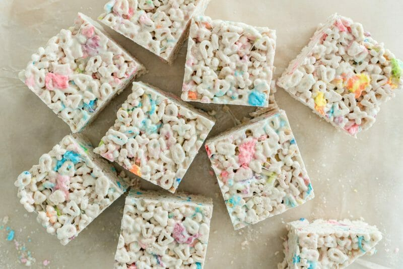 Brown Butter Lucky Charms Cereal Treats
